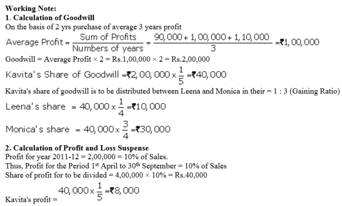 TS Grewal Accountancy Class 12 Solutions Chapter 5 Retirement Death of a Partner Q72.1