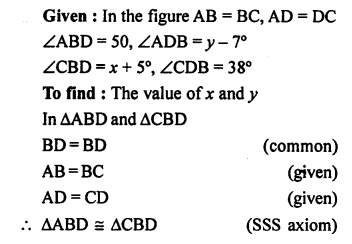 Selina Concise Mathematics class 7 ICSE Solutions - Congruency Congruent Triangles-ex14a