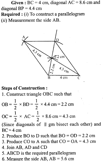 ML Aggarwal Class 9 Solutions for ICSE Maths Chapter 13 Rectilinear Figures  ex 2  10