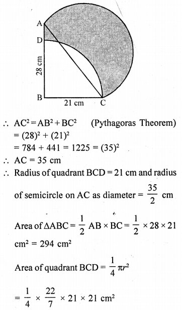 RD Sharma Class 10 Solutions Chapter 13 Areas Related to Circles Ex 13.4 - 40a