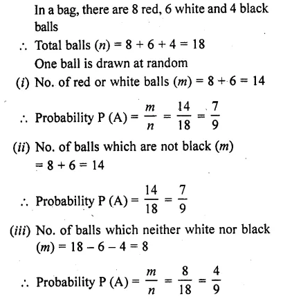 Class 10 RD Sharma Pdf Chapter 13 Probability