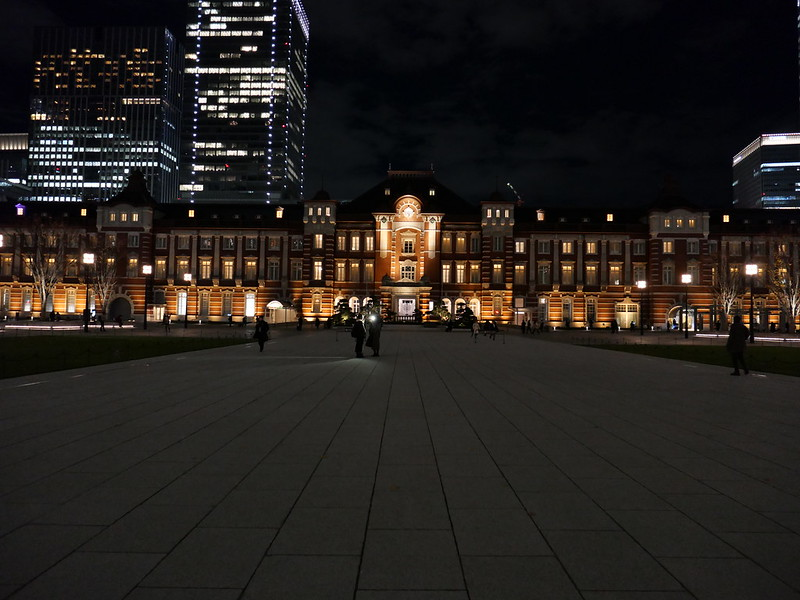 aspect ratio 4:3 Tokyo Station night view