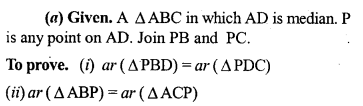 ML Aggarwal Class 9 Solutions for ICSE Maths Chapter 14 Theorems on Area     3a