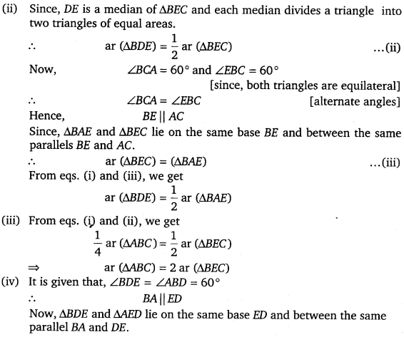 NCERT Solutions for Class 9 Maths Chapter 9 Area of parallelograms and Triangles 42