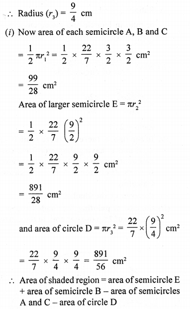 RD Sharma Class 10 Solutions Chapter 13 Areas Related to Circles Ex 13.4 - 39aa