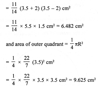 RD Sharma Class 10 Solutions Chapter 13 Areas Related to Circles Ex 13.4 - 19aa