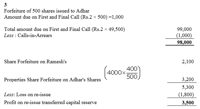 TS Grewal Accountancy Class 12 Solutions Chapter 8 Accounting for Share Capital Q81.3