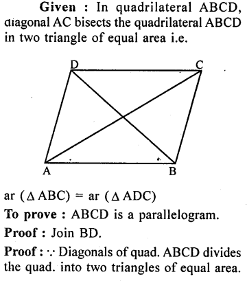 ML Aggarwal Class 9 Solutions for ICSE Maths Chapter 14 Theorems on Area    ct 5