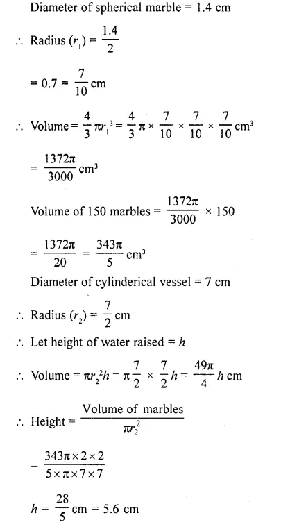 RD Sharma Class 10 Solutions Chapter 14 Surface Areas and Volumes Ex 14.1 46