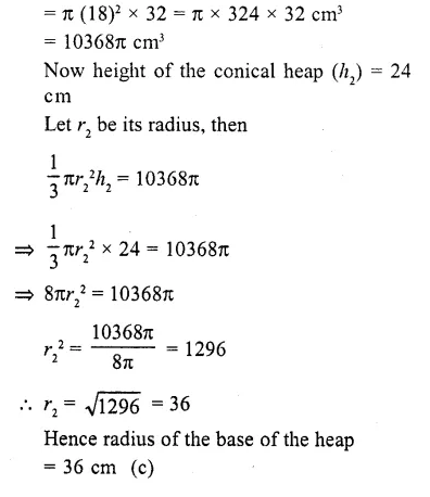 RD Sharma Class 10 Solutions Chapter 14 Surface Areas and Volumes MCQS 15