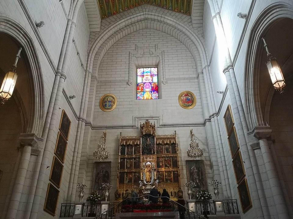 Altar de la Virgen de la Almudena interior Catedral Santa Maria la Real de la Almudena Madrid 03
