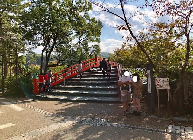 宇治川の赤い橋