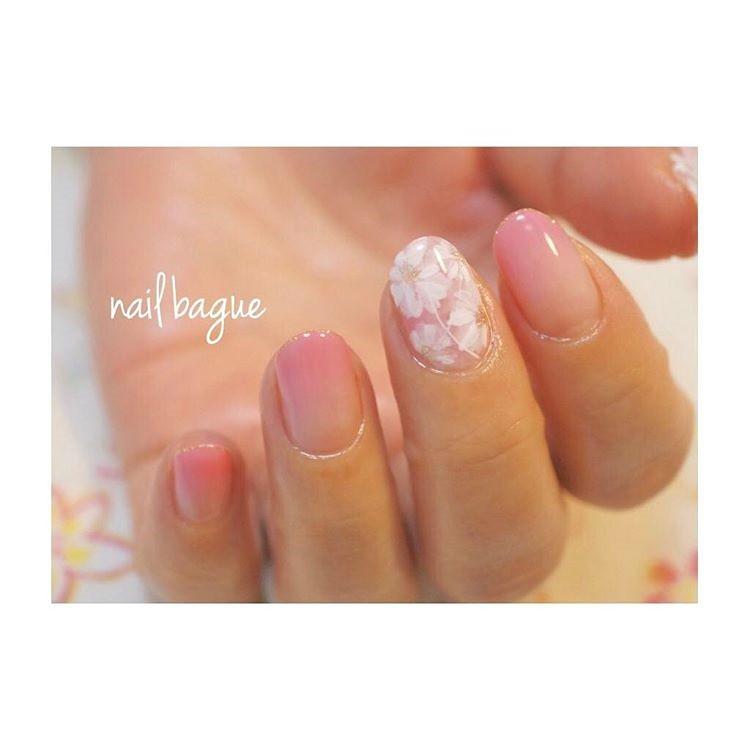 ♥ 漸層指甲的魅力!指上淡淡的暈開 11