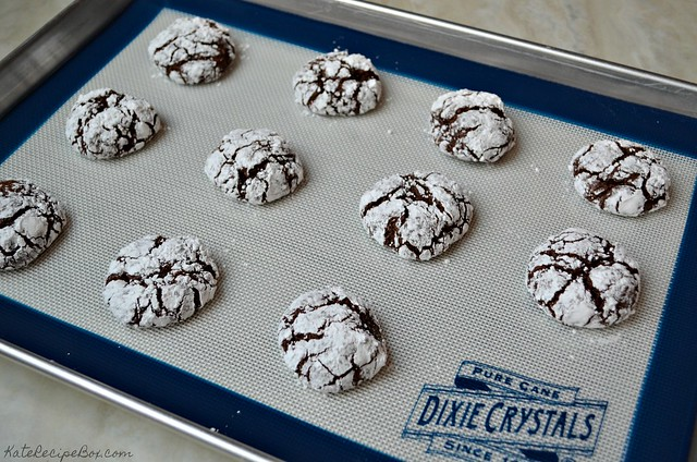 Chocolate Orange Crinkle Cookies 3