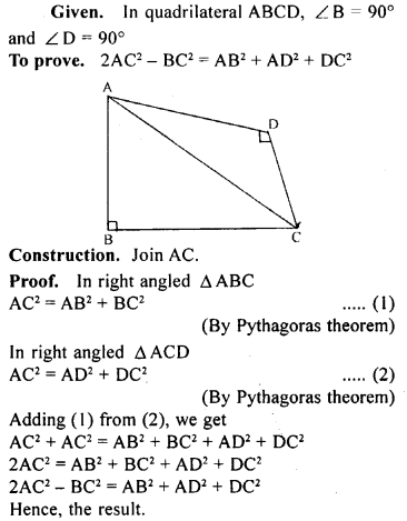 ML Aggarwal Class 9 Solutions for ICSE Maths Chapter 12 Pythagoras Theorem     24