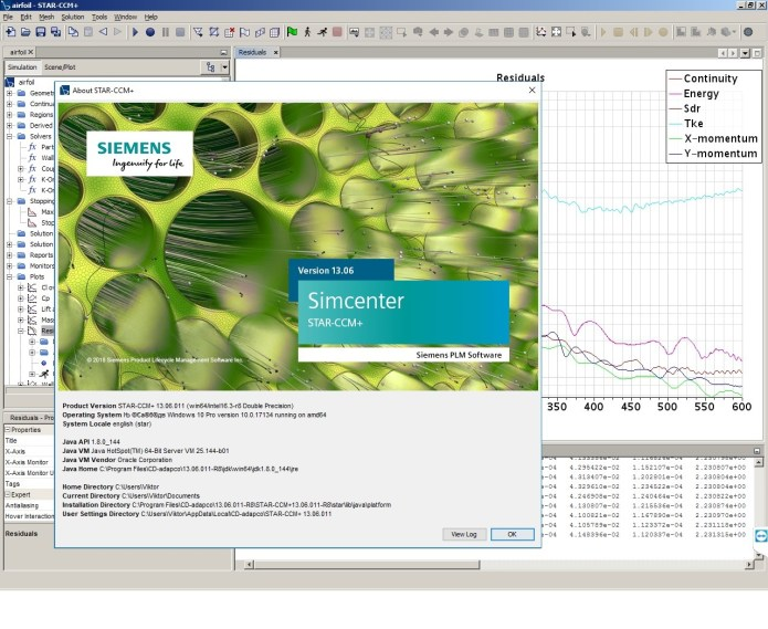 Working with Siemens Star CCM+ 13.06.011-R8 full license