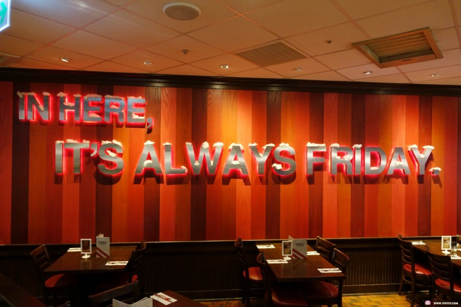 [中壢美食]TGI FRIDAYS 星期五美式餐廳~大江購物中心4F的老字號美式餐廳.不定時推出單日限定快閃活動 @VIVIYU小世界