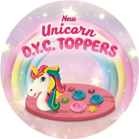 Goldilocks Unicorn DYC Toppers