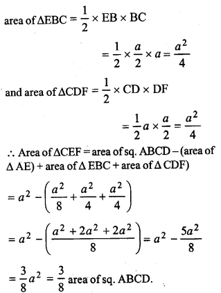 ML Aggarwal Class 9 Solutions for ICSE Maths Chapter 14 Theorems on Area    pq3a