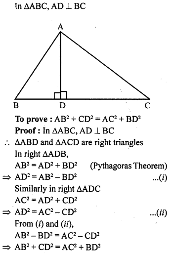 ML Aggarwal Class 9 Solutions for ICSE Maths Chapter 12 Pythagoras Theorem     10