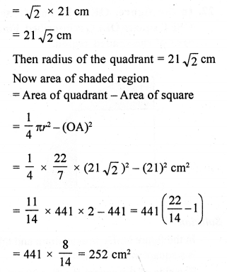 RD Sharma Class 10 Maths Chapter 15 Areas related to Circles