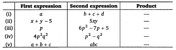 NCERT Solutions for Class 8 Maths Chapter 9 Algebraic Expressions and Identities 9
