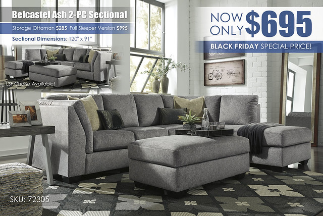 Belcastel Ash 2PC Sectional Special_72305