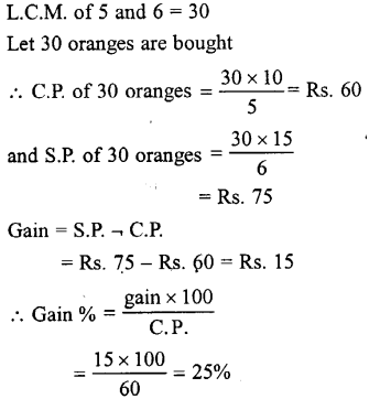 Selina Concise Mathematics class 7 ICSE Solutions - Profit, Loss and Discount-a6