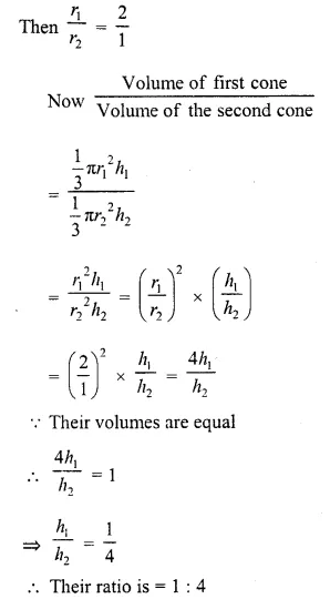 RD Sharma Class 10 Solutions Chapter 14 Surface Areas and Volumes  VSAQS 16