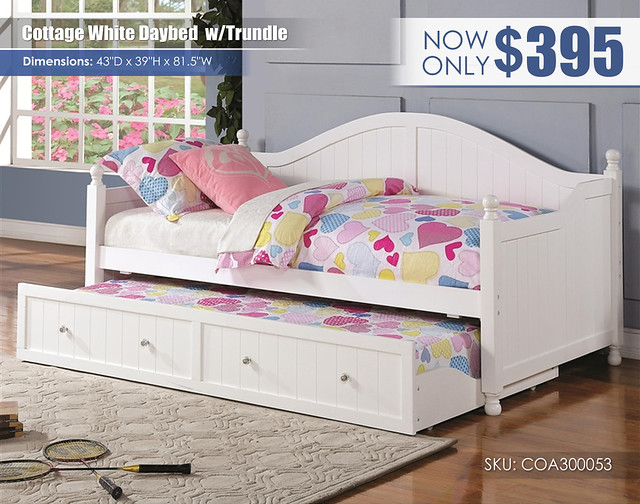 Cottage White Daybed with Trundle_COA-300053-2