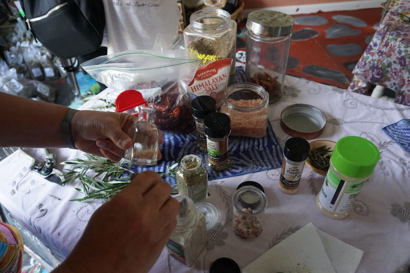 Participants Make Their Own Infused Olive Oil After Watching Dede Davis Show the Proper Way to Make It. The Olive Grove in Brooksville, Fla.