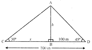 RD Sharma Class 10 Solutions Chapter 12 Heights and Distances MCQS - 10a
