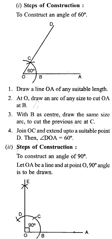 Selina Concise Mathematics Class 6 ICSE Solutions - Properties of Angles and Lines (Including Parallel Lines)-c2