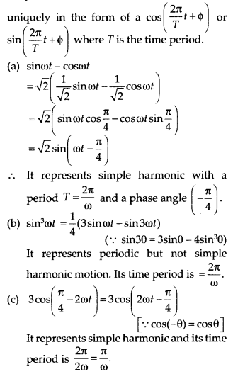 NCERT Solutions for Class 11 Physics Chapter 14 Oscillation 1