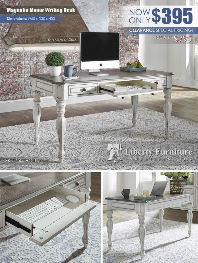 Magnolia Manor Writing Desk Clearance Special_244-ho107