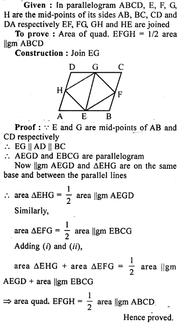 ML Aggarwal Class 9 Solutions for ICSE Maths Chapter 14 Theorems on Area     5