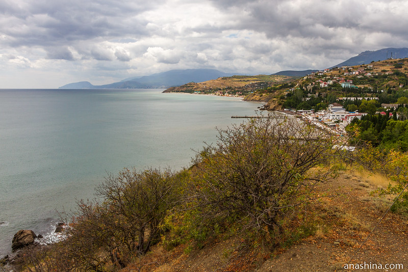 Побережье Черного моря в Малореченском