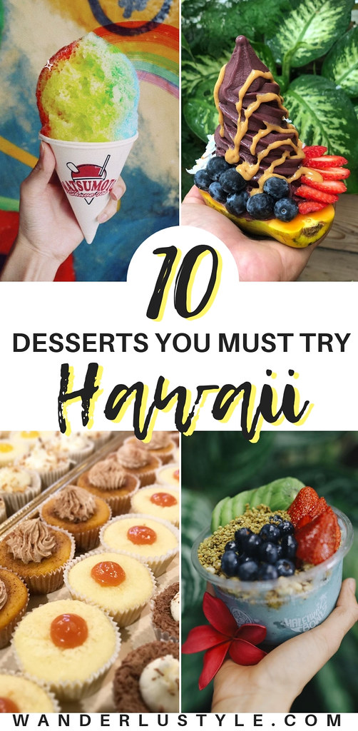 10 Desserts You Must Try in Hawaii - Oahu Hawaii, Oahu Desserts, Hawaii Desserts, Desserts, Island Desserts, Hawaii Sweets, Hawaii Food, Oahu Food Guide, Hawaii Food Guide, Oahu Food | Wanderlustyle.com