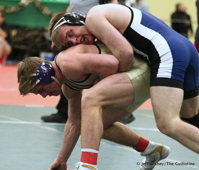 170 1st Place Match - Patrick Kennedy (Kasson-Mantorville) 13-0 won by tech fall over Cade Mueller (Waconia) 11-1 (TF-1.5 5:07 (19-4)). 181215BJF0437