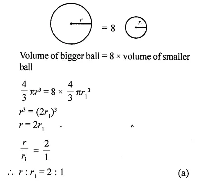 RD Sharma Class 10 Solutions Chapter 14 Surface Areas and Volumes MCQS 50