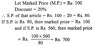 Selina Concise Mathematics class 7 ICSE Solutions - Profit, Loss and Discount-c9