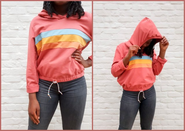rainbow hoodie (collage)