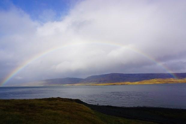 Rainbow over Hvalfjörður