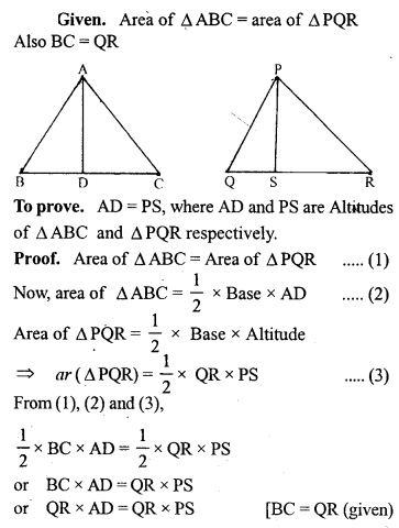 ML Aggarwal Class 9 Solutions for ICSE Maths Chapter 14 Theorems on Area     pq