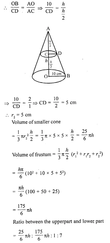 RD Sharma Class 10 Solutions Chapter 14 Surface Areas and Volumes Ex 14.3 18