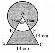 RD Sharma Class 10 Solutions Chapter 13 Areas Related to Circles Ex 13.4 - 27