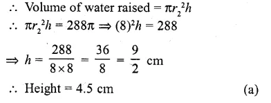 RD Sharma Class 10 Solutions Chapter 14 Surface Areas and Volumes MCQS 8