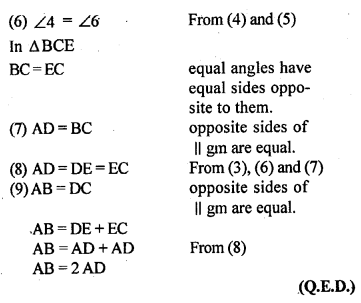 ML Aggarwal Class 9 Solutions for ICSE Maths Chapter 13 Rectilinear Figures  ex 19a