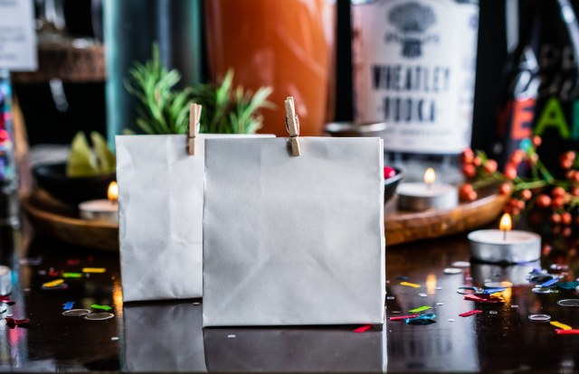 fill mini gift bags with fudge, and send your guests home happy