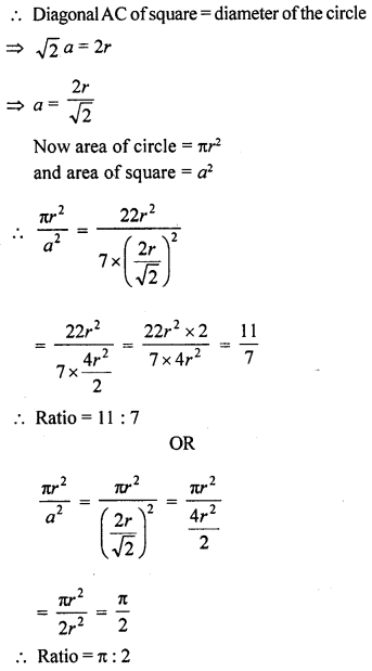 RD Sharma Class 10 Solutions Chapter 13 Areas Related to Circles Ex 13.1 14A